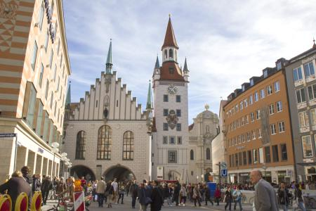 Das alte Rathaus am Marienplatz