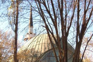 Bild: Rückseite der Moschee in Freimann