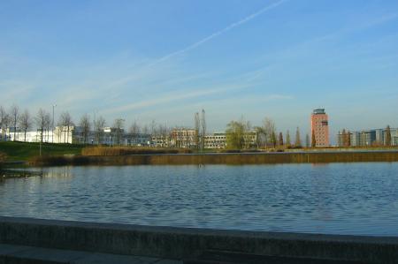 Messesee in der Messestadt Riem