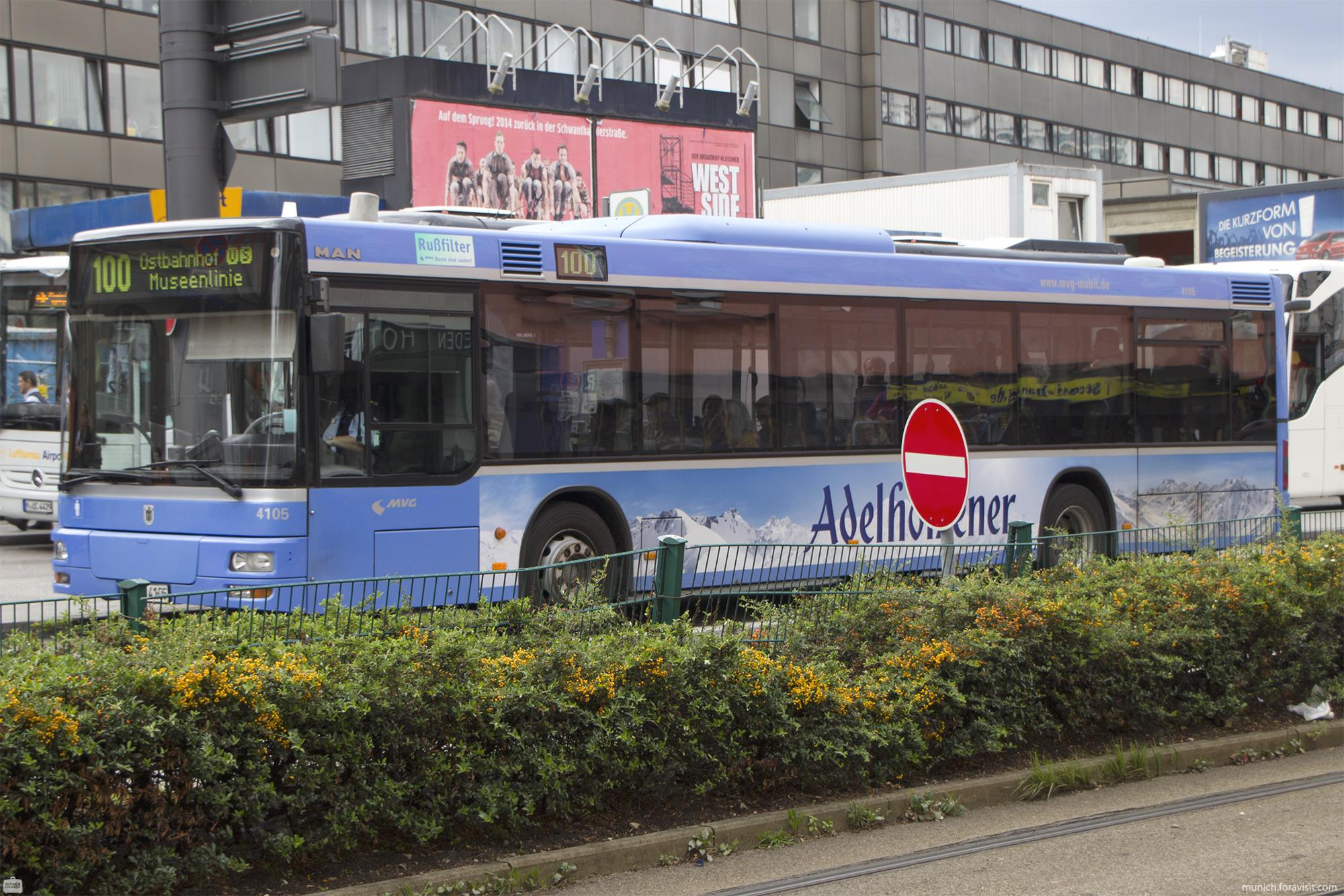 Bus Network Metrobus System In Munich Germany