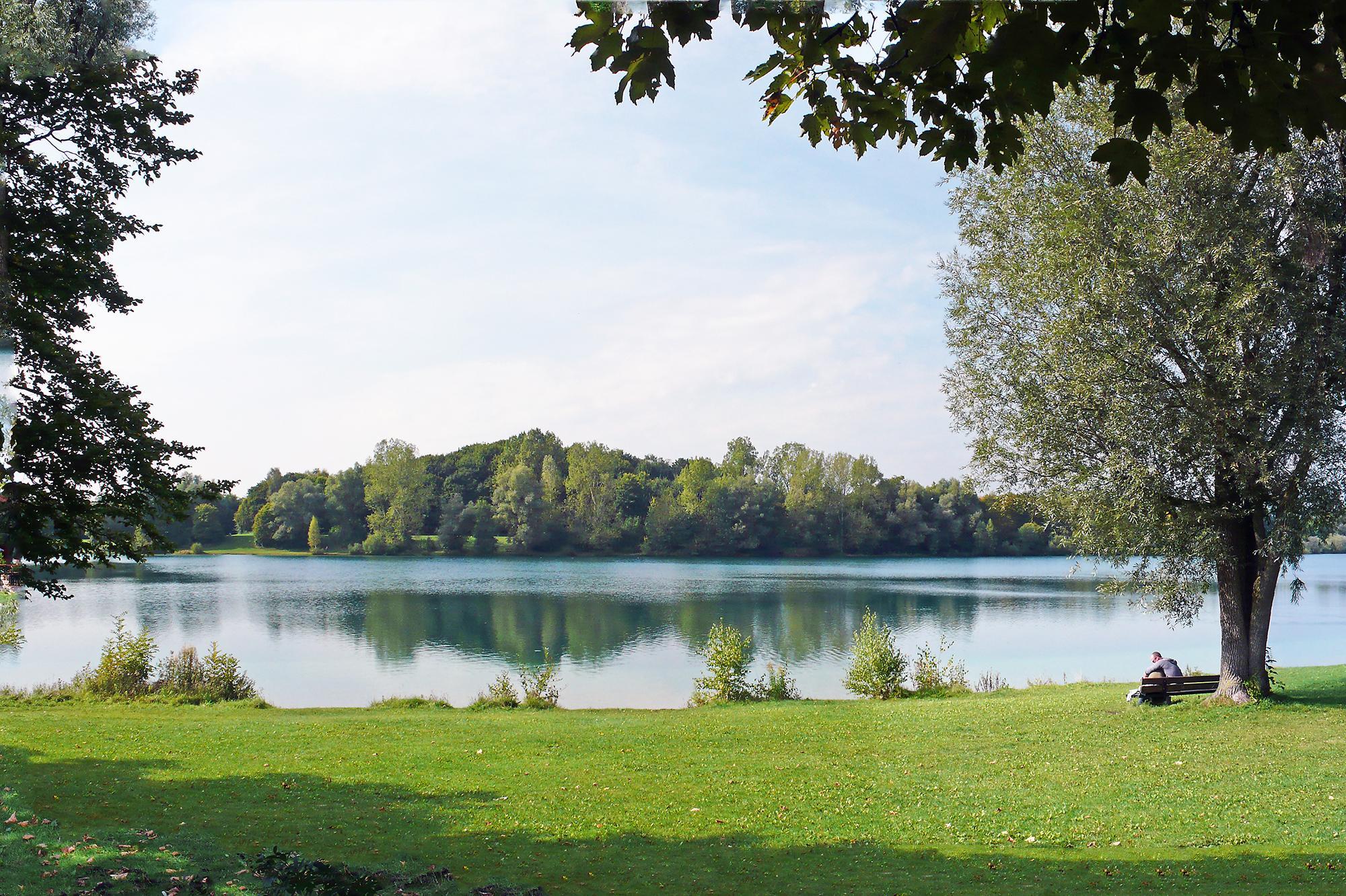 bathing lake munich karlsfelder see swimming relaxation