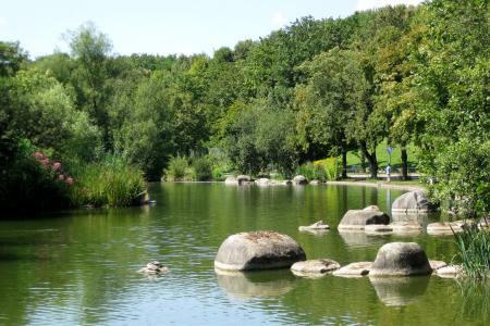 Der Mollsee im Westpark