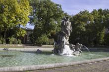 Bild: Der  Neptunbrunnen im alten botanischen Garten