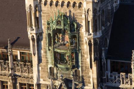 Das Glockenspiel im neuen Rathaus
