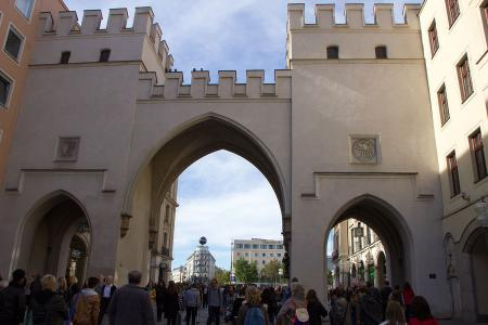 The Karlstor (Karl´s Gate) is the beginning of the pedestrian area
