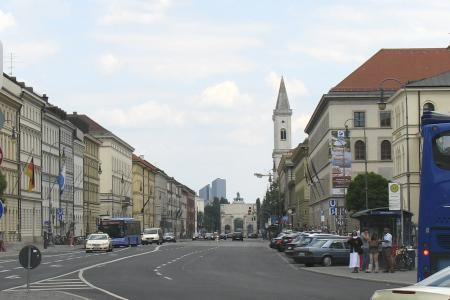 Ludwigstraße direction going out of town