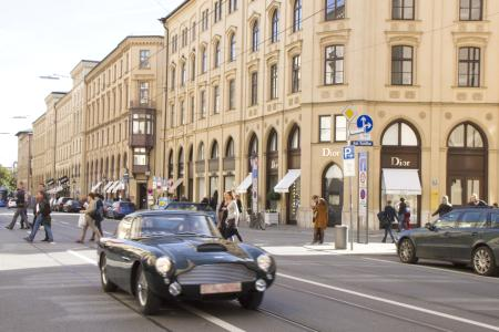 Beautiful Cars on a grandiose street