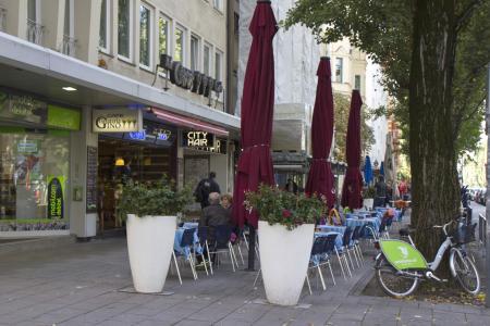 Cafés and Shops everywhere
