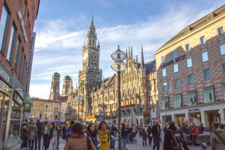 The Marienplatz and the New Town Hall