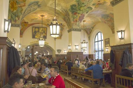The Hofbräuhaus from the inside