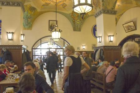 Inside the Hofbräuhaus