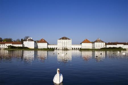 Das Schloss Nymphenburg von außen