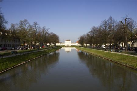 The canal of Nymphenburg Palace