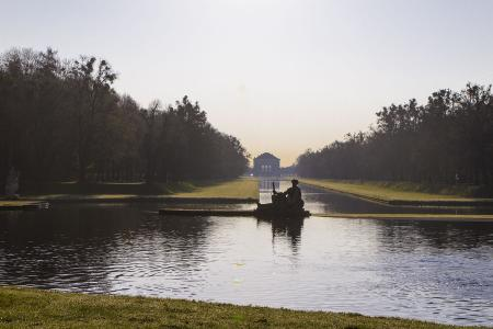 From the rear end of the Nymphenburg Park