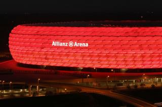 Picture: Allianz Arena  at night