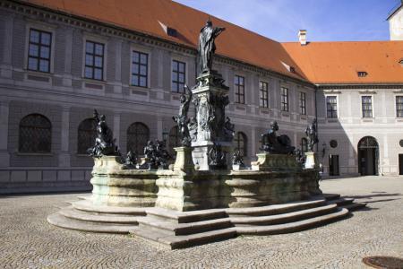 The Fountain inside the Brunnenhof