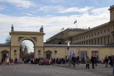 Entry to the Hofgarten at the Residenz