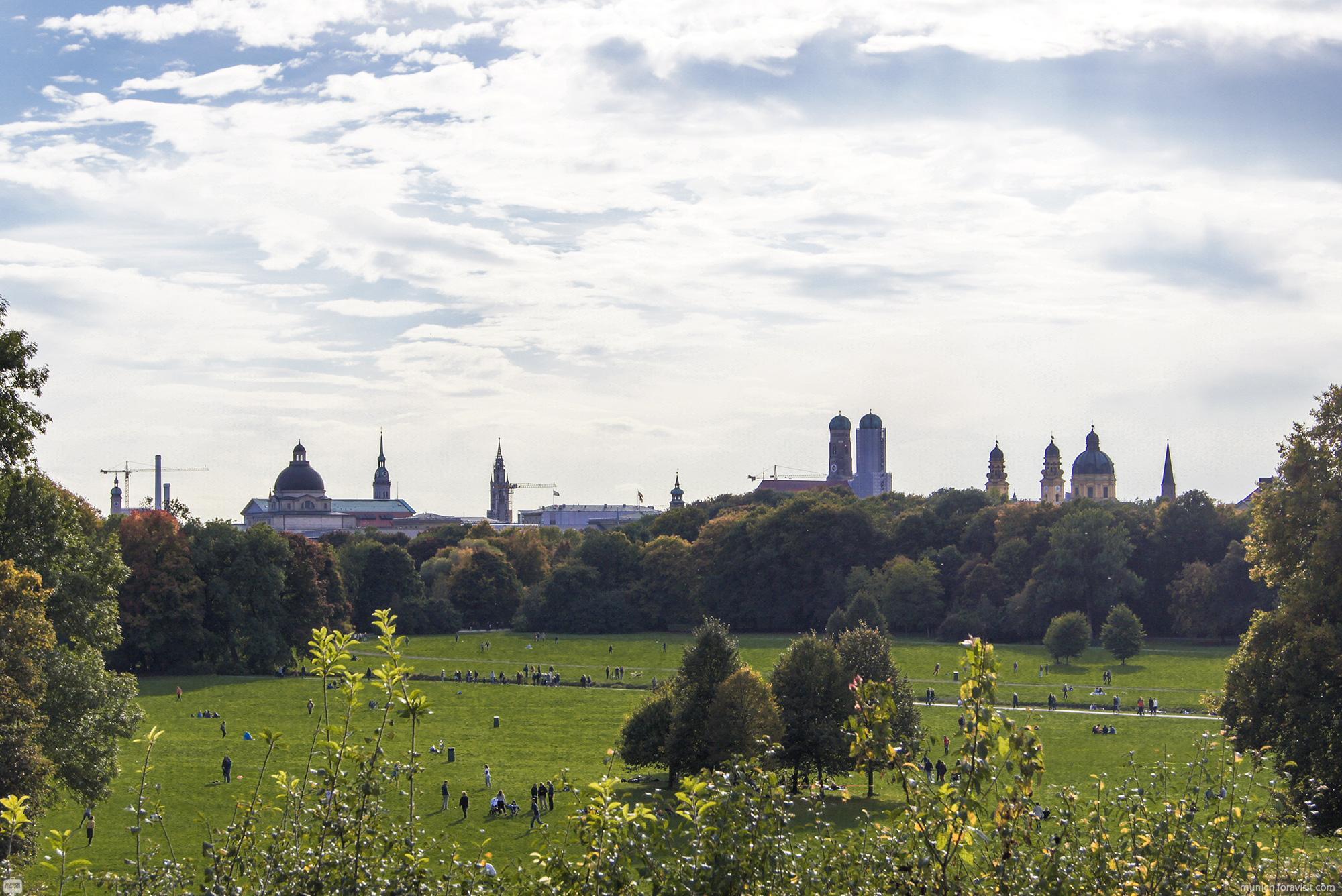 English Garden Munich Park Recreation Running Hiking Route
