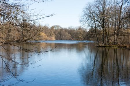 The big lake inside Nymphenburg Park
