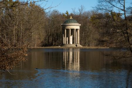 Temple of Apollon (Monopteros) at Badenburger Lake