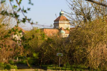 The Botanical Garden view near Castle Nymphenburg