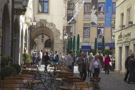 Das Platzl von der Pfisterstraße