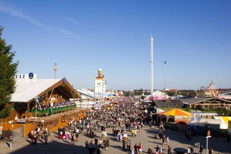 The Oktoberfest seen from the bavaria