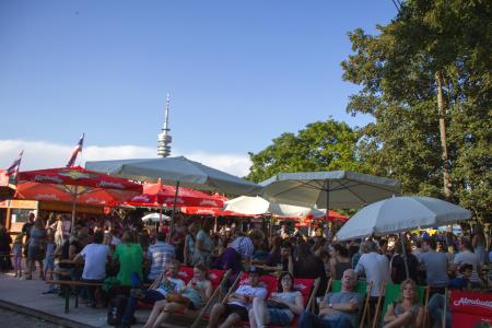 The Fernsehturm in the background