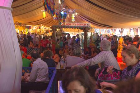 Concerts for free in the smaller tents