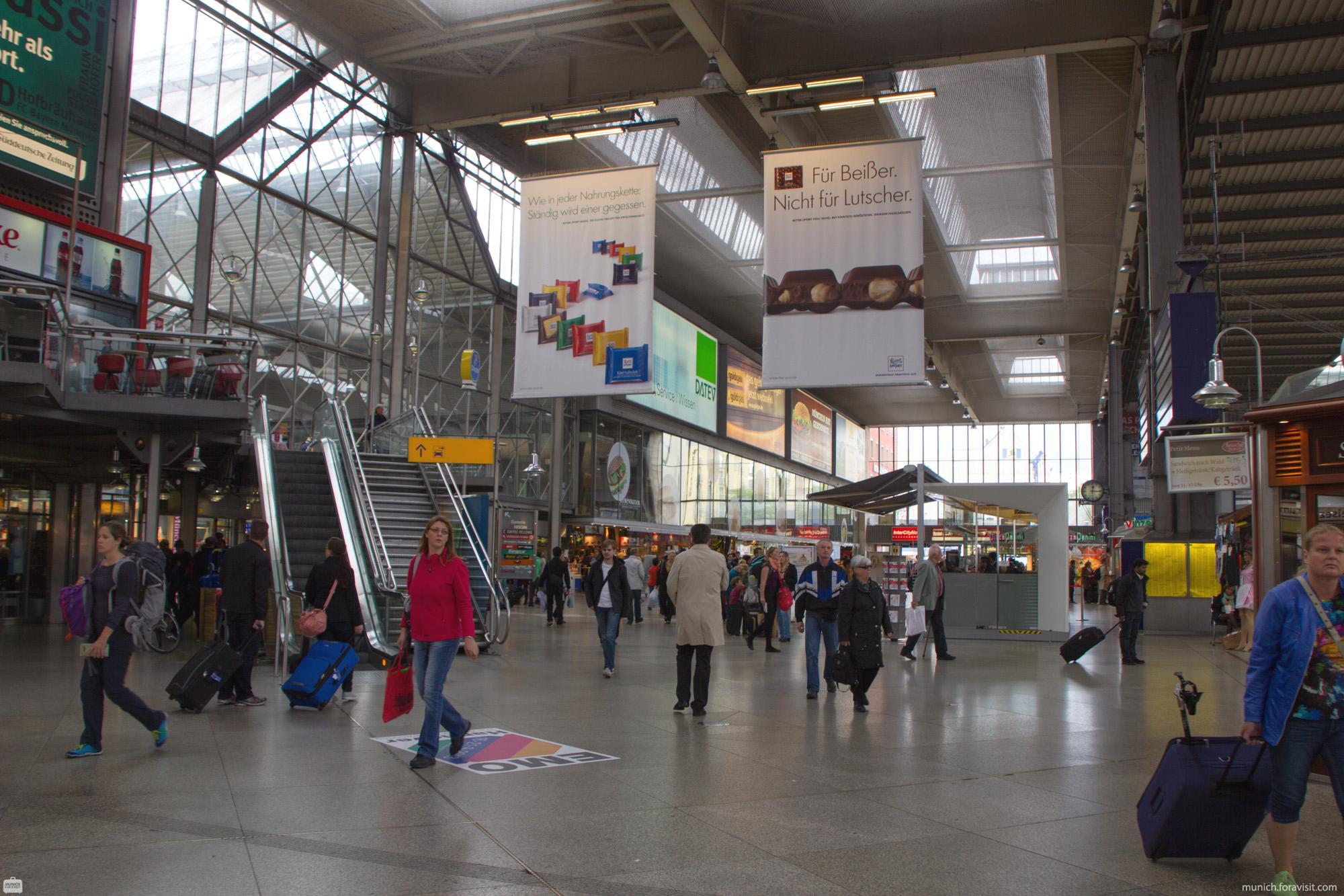 Hauptbahnhof München HBF - alle Infos auf einen Blick