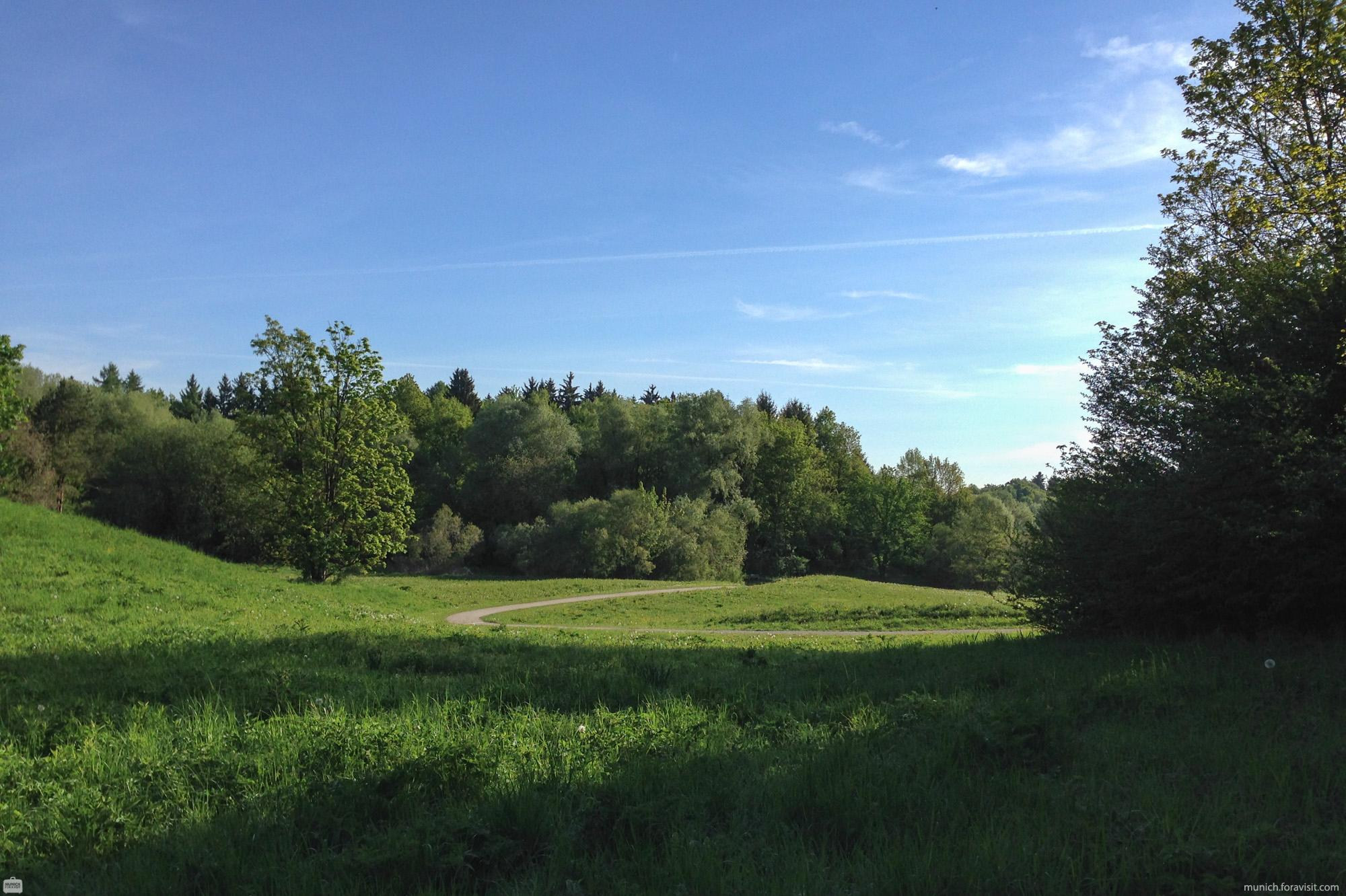 Aubinger Lohe Munich Recreation, Hiking & Running Route
