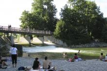 Picture: The river Isar at the Flaucher