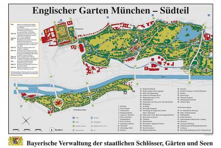 Map Maximilian Park and English Garden